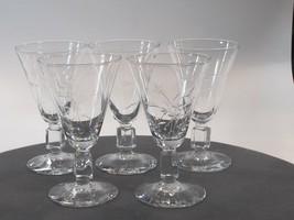 Reizart Nydia Cut glass sherry stem Hand cut 947 Starlight - $11.30
