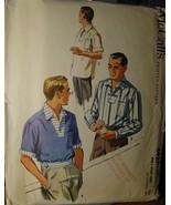 "Vintage Men's Sewing Pattern Shirts 14-14.5"" neck 4427 (1957) cut - $6.99"