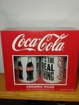 Coca Cola Collectible Ceramic Mugs Set with Mini Pretzels ~ NEW Sealed - $10.88