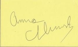 Anna Chlumsky Signed Vintage 3x5 Index Card JSA Veep My Girl - $39.59
