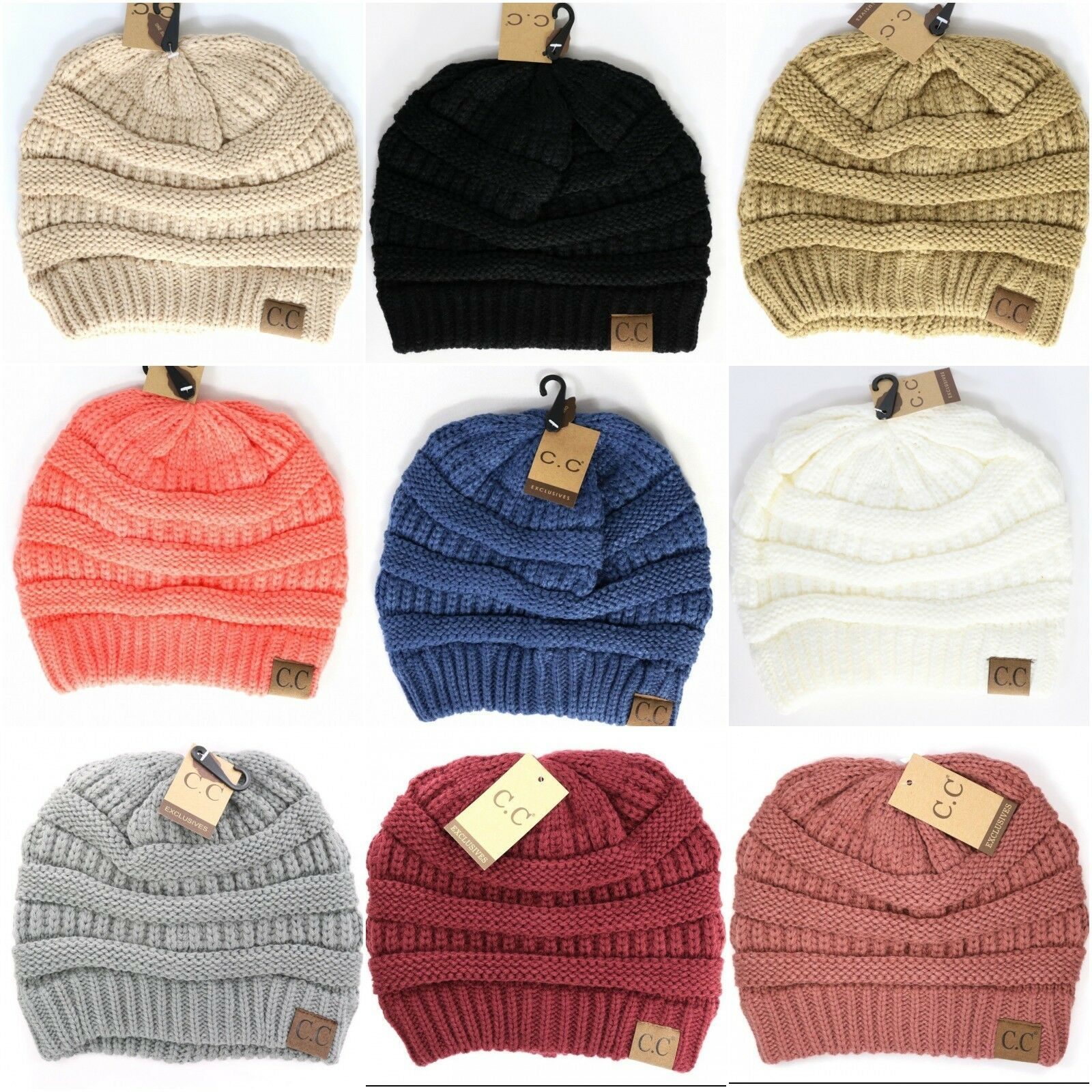 Primary image for CC Beanie Classic Solid or Confetti Beanie Hat