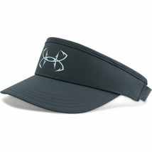 NEW! UNDER ARMOUR Men's Fish Hook Adjustable/OSFA Visor-Stealth Gray - $39.48
