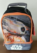 Disney Star Wars by THERMOS Black/Orange Insulated Lunch Bag New - $12.86