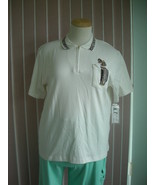 Golf Shirt by K.T. Golf White/Leopard Print Sz 2X - $10.99