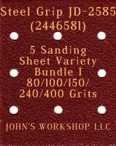 Steel Grip JD-2585 - 80/100/150/240/400 Grits - 5 Sandpaper Variety Bund... - $7.53