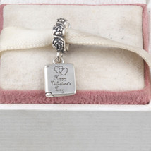 Charms Valentine's Day, 925 Sterling Pendant Happy Day Beads - $26.99