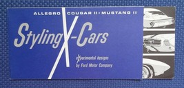 1962-64 FORD Styling X-Cars Concept Experimental Brochure Allegro Cougar... - $9.50