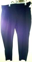 Womens Old Navy Plus Short Pants Slacks Black  Zipper Loops Rayon Blend ... - $7.84