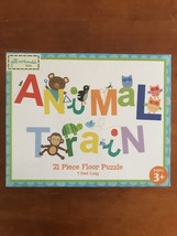 Animal Train 21 Piece Floor Puzzle, 7 Ft Long