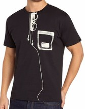 Bench Urbanwear Herren Schwarz Xray Vision Taschen T-Shirt