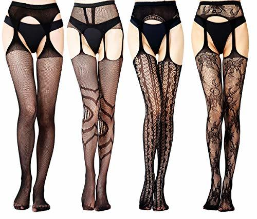 Charmnight Fishnet Stockings High Waist Suspender Pantyhose Tights for Women2