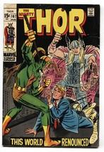 THOR #167 1969 MARVEL COMICS LOKI JACK KIRBY ROMITA ART vg/fn - $25.22