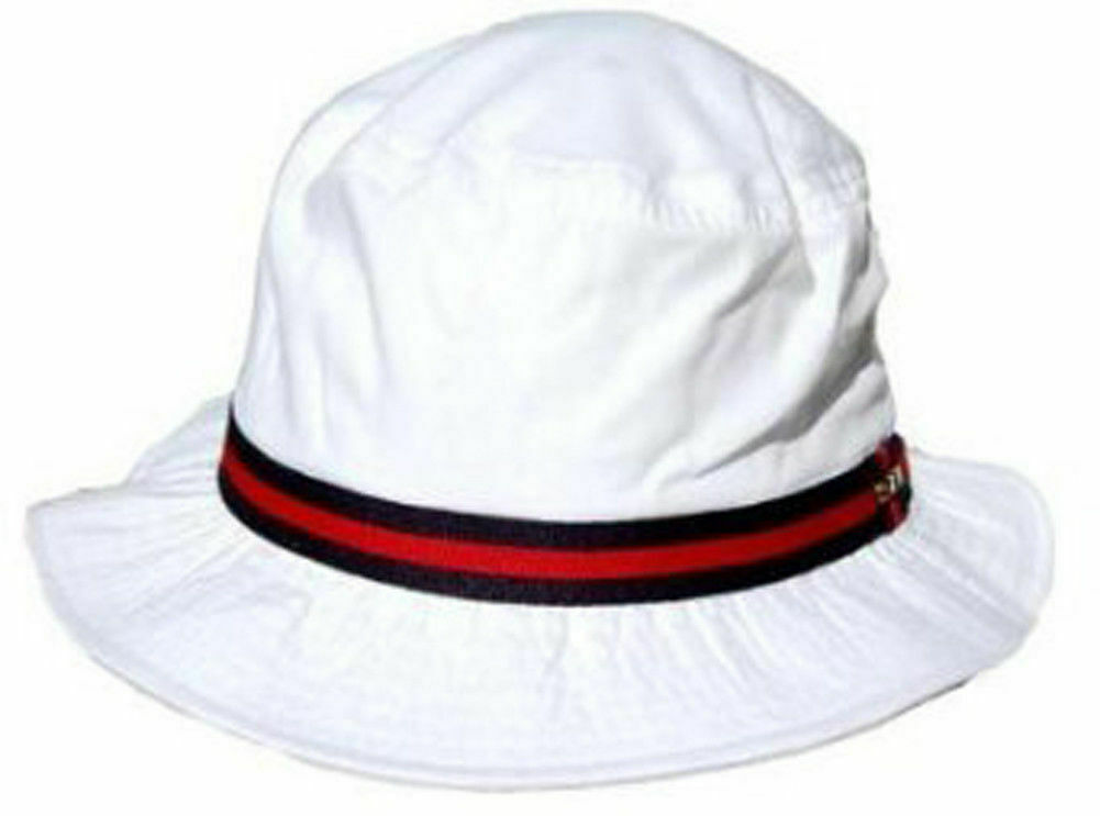 Dorfman Pacific White Bucket Hat / Large/ Free US Open BM w Purchase