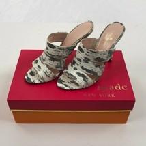 Women's Gray Kate Spade Fission Mule Sandals, Lizard Print, NIB sz 6.5 - $95.67
