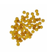 Czech fire polished glass Honey faceted rondelles translucent - $7.98