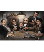 GANGSTERS PLAYING POKER - BIG CHRIS ART POSTER 24x36 - $21.00
