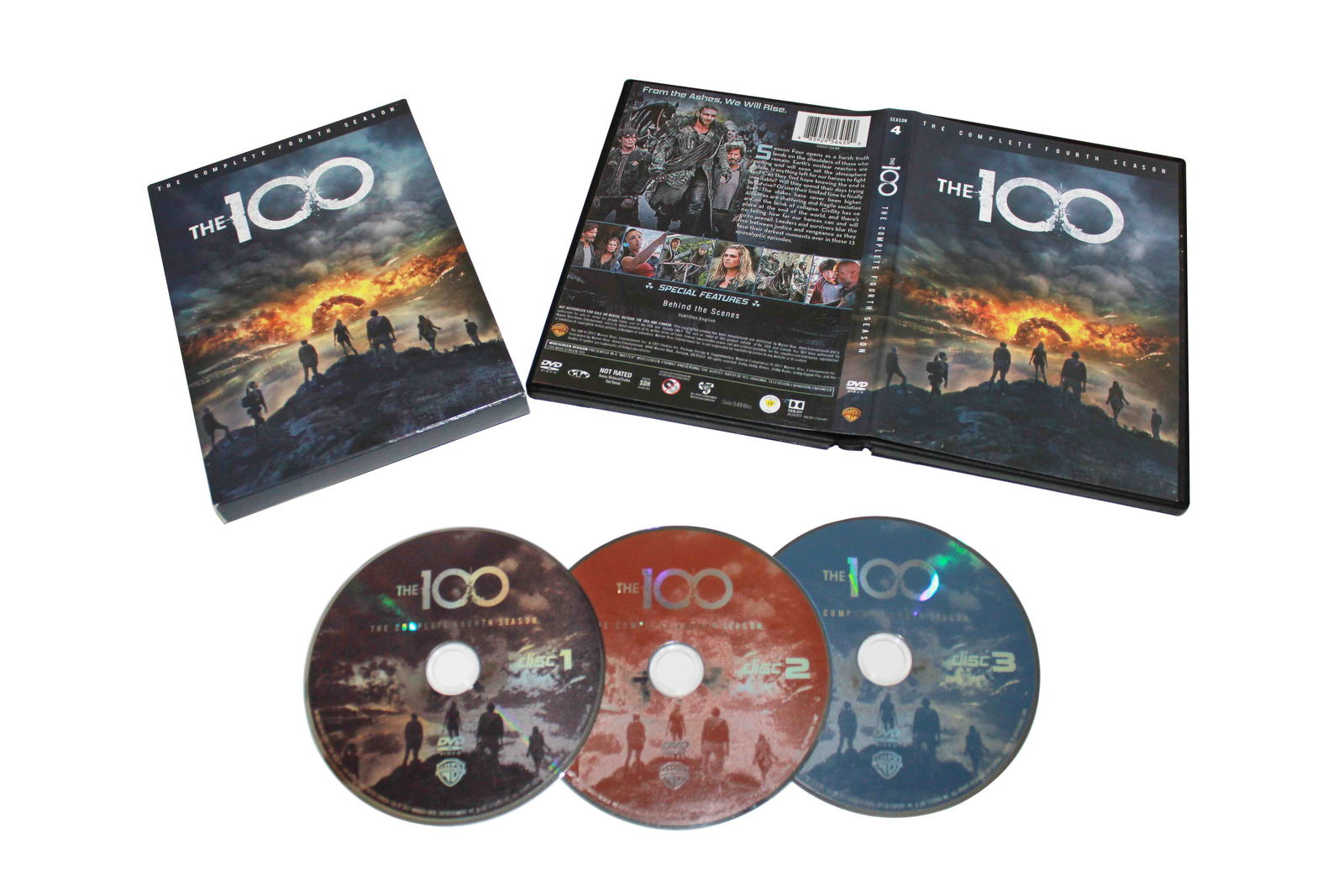 The 100 The Complete Fourth Season 4 DVD Box Set 3 Disc Free Shipping