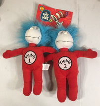 Kohls Cares 2003 Dr Seuss Thing 1 Thing 2 Plush Cat In The Hat Stuffed - $31.67