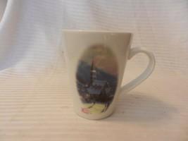 Thomas Kinkade Painter of Light Moonlit Village Coffee Cup 1989 #9178 - $14.84