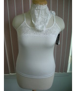 Cuddle Duds White Camisole & Thong Set Sz XL - $9.99