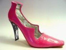 Scandalous Sleek Sexy Hot Pink Pump Silver Lining Split Heel Just the Ri... - $32.99