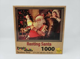 Puzzle Works Christmas Series 1000 Pc Puzzle - Resting Santa - New - $16.99