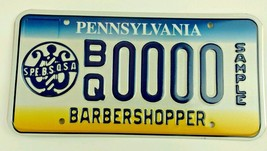 Pennsylvania Barbershopper Sample License Plate S.P.E.B.S.O.S.A. - $39.99