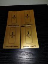 4x Paco Rabanne 1 Million Men's EDT Spray Deluxe Samples(1.5 ml.Each)NIP - $12.86
