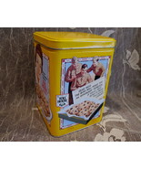 NESTLE TOLL HOUSE COOKIES Tin Can Vintage Collectible SOLDIERS WAR RECIPES - $14.95