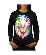 Lion Colorful Art Animal Jumper Jungle King Women Sweatshirt - $18.99