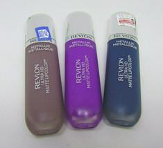 Lot of 3 REVLON ULTRA HD Matte Lipcolor Metallic 685 710 720 0.2Fl.oz./ 5.9ml - $9.42