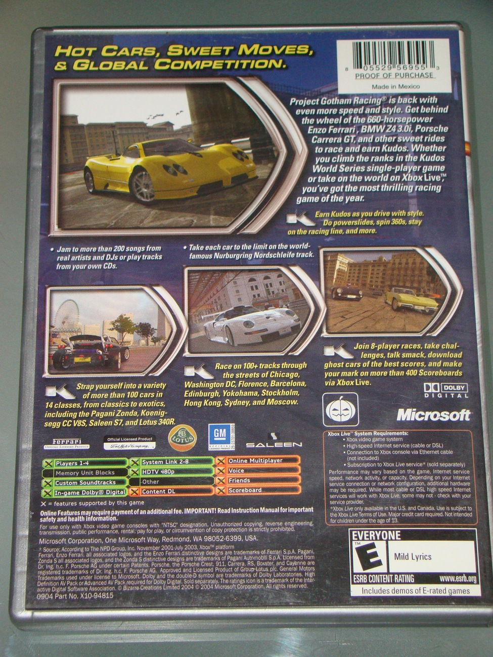 XBOX - PROJECT GOTHAM RACING 2 (Complete with Instructions)