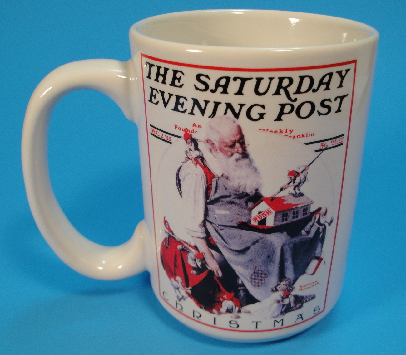 Saturday Evening Post December 1922 Norman Rockwell Christmas Coffee Mug Santa