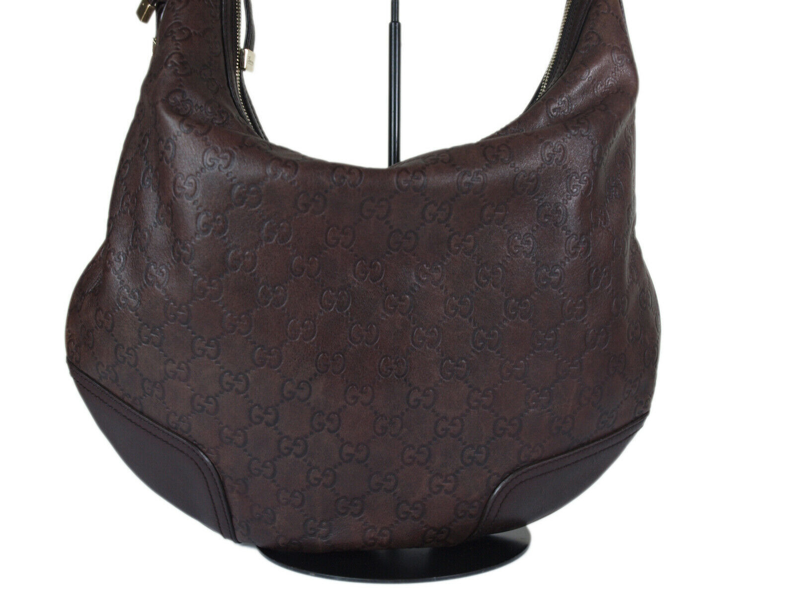 Auth GUCCI Guccissima Leather Dark Brown Shoulder Bag GH2155  image 2