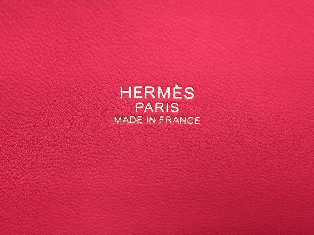 HERMES Bolide 27 Epsom Rose Extreme #D Handbag Shoulder Bag Authentic 5554645 image 8