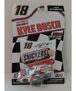 2020 KYLE BUSCH #18 SNICKERS WHITE NASCAR AUTHENTICS 1:64 W/MAGNET HOOD - $9.85