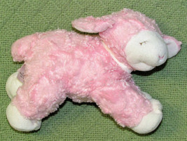 Baby Gund WINKY Rattle Lamb PINK Plush Stuffed Sheep 58131 058131 Soft C... - $12.38