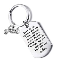 FUSTYLE Jeep Gift Drive Safe Keychain May Your Guardian Angel Ride with ... - $15.85