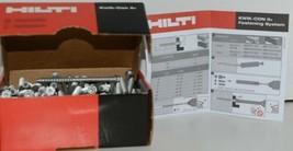 HILTI KWIK CON II plus TORX HWH HEX HEAD 1/4 x 3 3/4 #433025 Box of 100 image 1