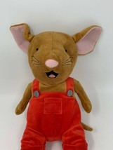"Kohl's Cares Plush If You Give A Mouse A Cookie Red Overalls Stuffed Animal 14"" - $11.88"