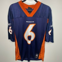 Reebok Football Jersey Men's Size M Blue Denver Broncos #6 Jay Cutler - $16.79