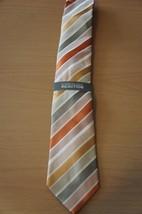 Kenneth Cole Reaction Men's Tie Orange Multi Prince Stripe Classic Necktie  - $24.18