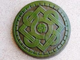 "14"" Celtic Stepping Stone Garden Mold - Buy Three 14"" Molds - Get 1 More Free! image 1"