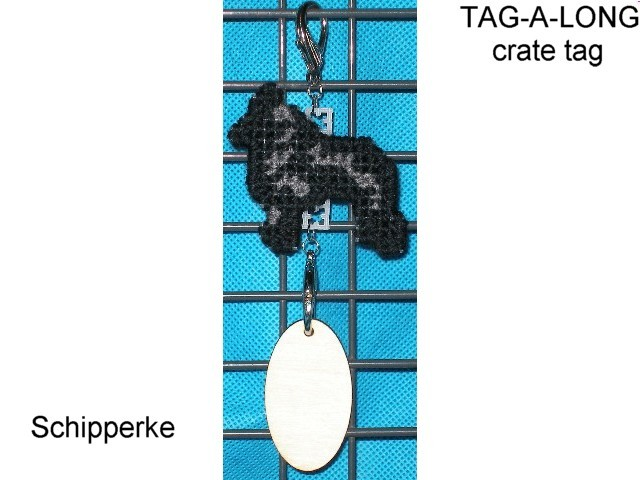 Schipperke dog crate tag or home decor, hang it anywhere, handmade by artist