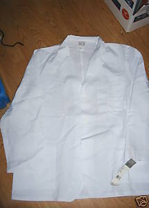 Ladies White Lab Coat Size 46 Long 46L Meta Labwear Jacket Large Pockets NEW Nwt