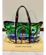 Louis Vuitton Cabas GM Promenade M93774 Tote Bag Cotton Canvas Green Aut... - $2,251.75