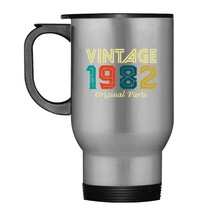 Vintage 1982 Old School 36th 36 Years Old Retro Gift Travel Mug - $21.99