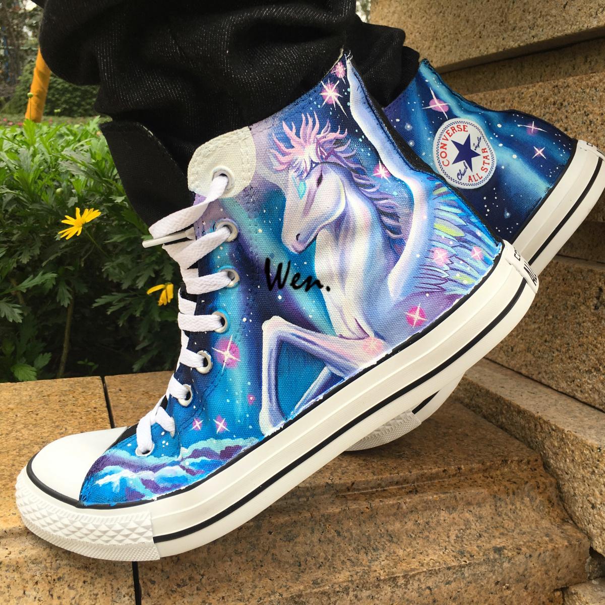 Pegasus Unicorn Design Converse All