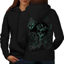 Skateboard Head Skull Sweatshirt Hoody Skull Dead Women Hoodie Back - $21.99+