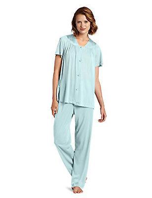 Vanity Fair Women's Coloratura Sleepwear Short Sleeve Pajama Set 90107